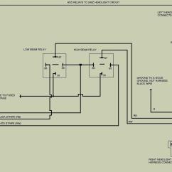 Headlight Wiring Diagram Water Level Indicator Project With Circuit Bike Relays Free Engine