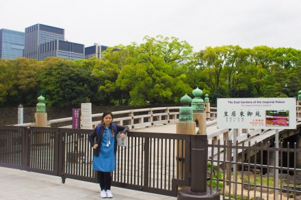 Michelle at the front gate of the Imperial Palace.