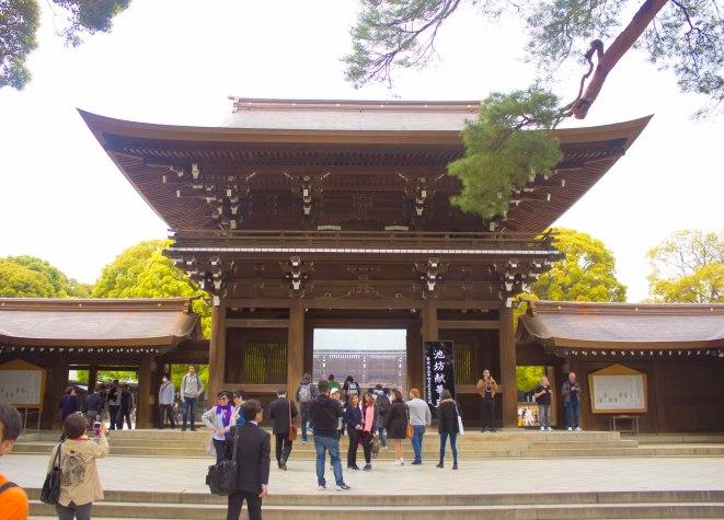 The facade of the Meiji Shrine.