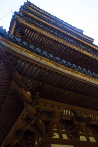 The details of the pagoda's structure on a much closer look.