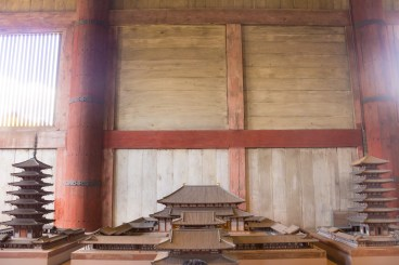 Life sized model of the Todaiji complex.