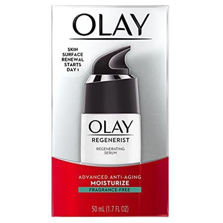 7. Olay Regenerist Regenerating Lightweight Moisturization Face Serum