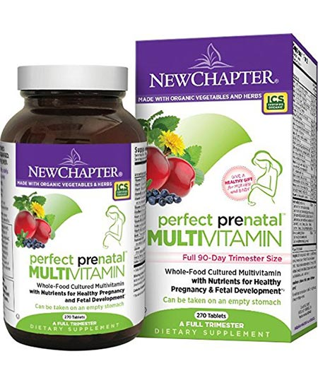 12. New Chapter Perfect Prenatal Vitamins
