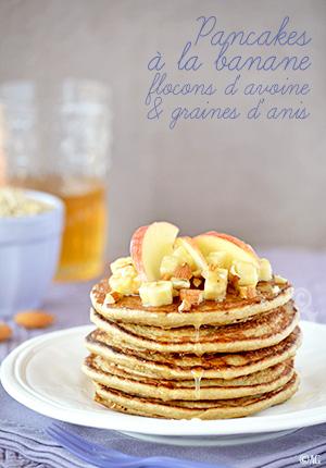 Recette Pancakes Banane Avoine : recette, pancakes, banane, avoine, Alter, Gusto, Pancakes, Banane,, Flocons, D'avoine, Graines, D'anis