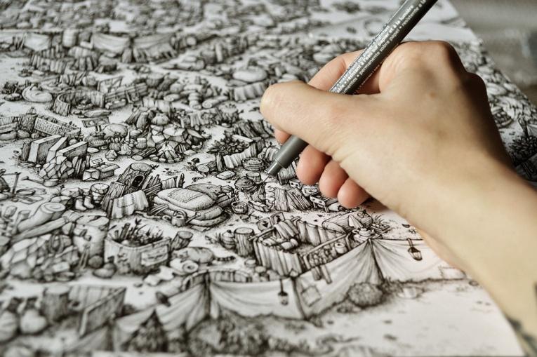 Ink Maze illustrations by Maria Tiurina