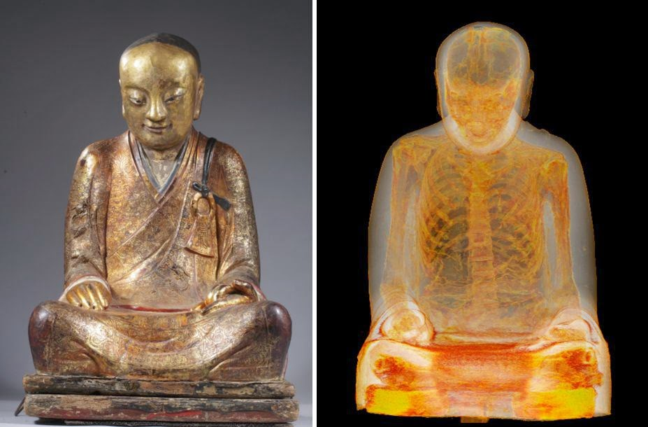 CT Scan of 1,000-Year-Old Buddha Statue Reveals Mummified Monk Hidden Inside
