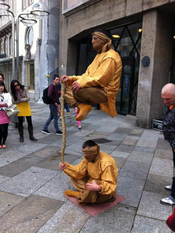 How do Levitating Street Performers Work?