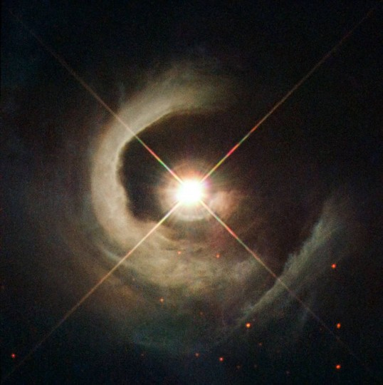 Hubble Sees a Young Star Take Center Stage