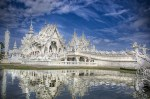 Temple Wat Rong Khun and futuristic religion