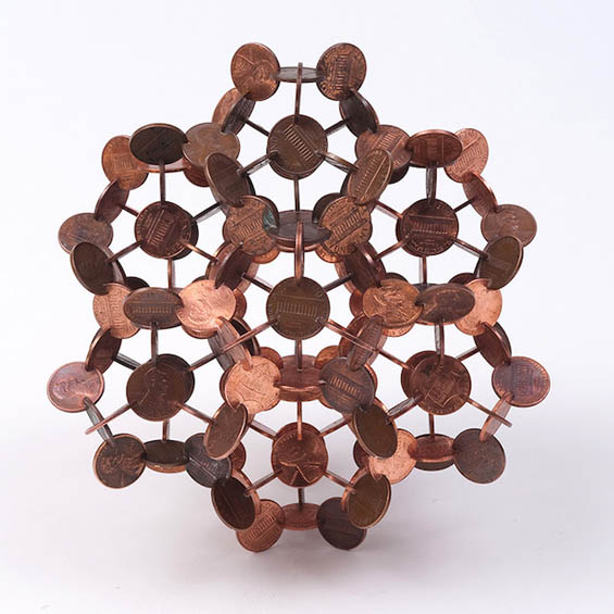 Making Cents: Robert Wechsler's Intricate, Symmetrical Sculptures Made Out Of Coins