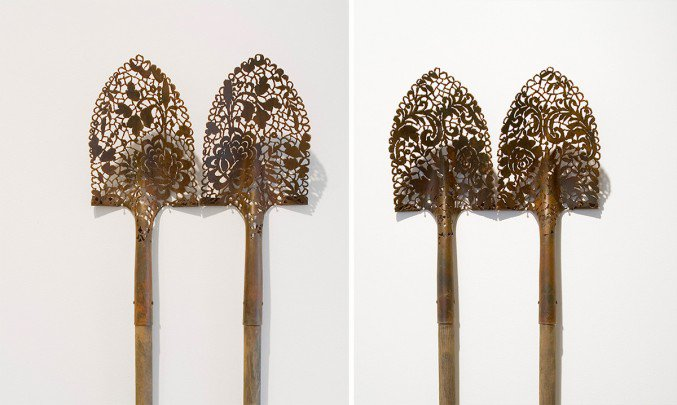 Artist Turns Industrial Steel Objects Into Intricate Lace Artworks