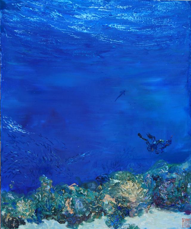 Guinness World Record Breaker Alexander Belozor Paints Underwater - 4