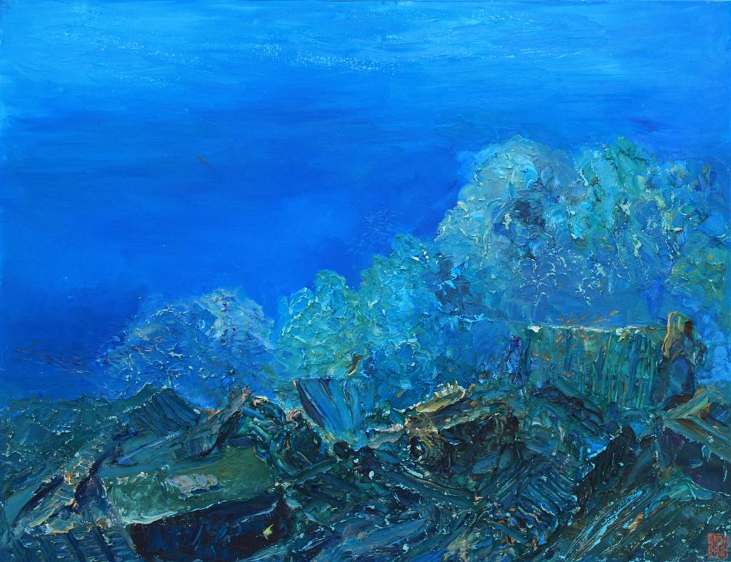 Guinness World Record Breaker Alexander Belozor Paints Underwater - 6
