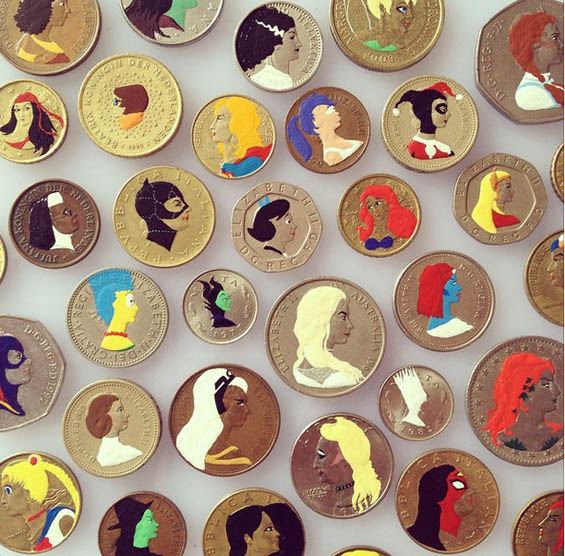 Andre Levy Turns Important Figures On Coins Into Cartoon Characters