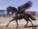 Impressive Animal Sculptures Made From Scrap Metal By Hasan Novrozi