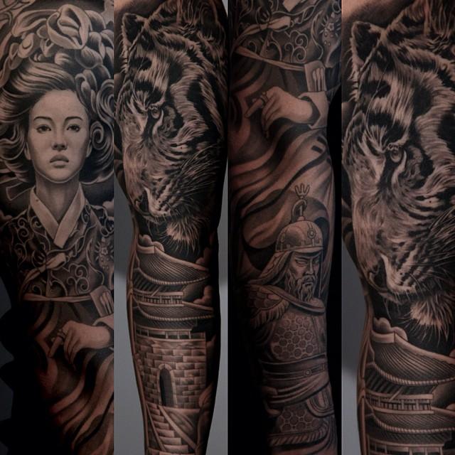 The Tattoo Art Of Jun Cha