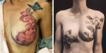 Tattoo Artists Cover The Scars Of Breast Cancer Survivors With Beautiful Tattoos