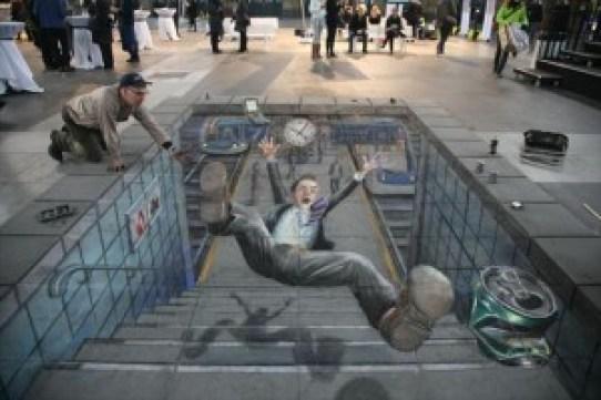 Amazing-3D-Street-Chalk-Art-Falling