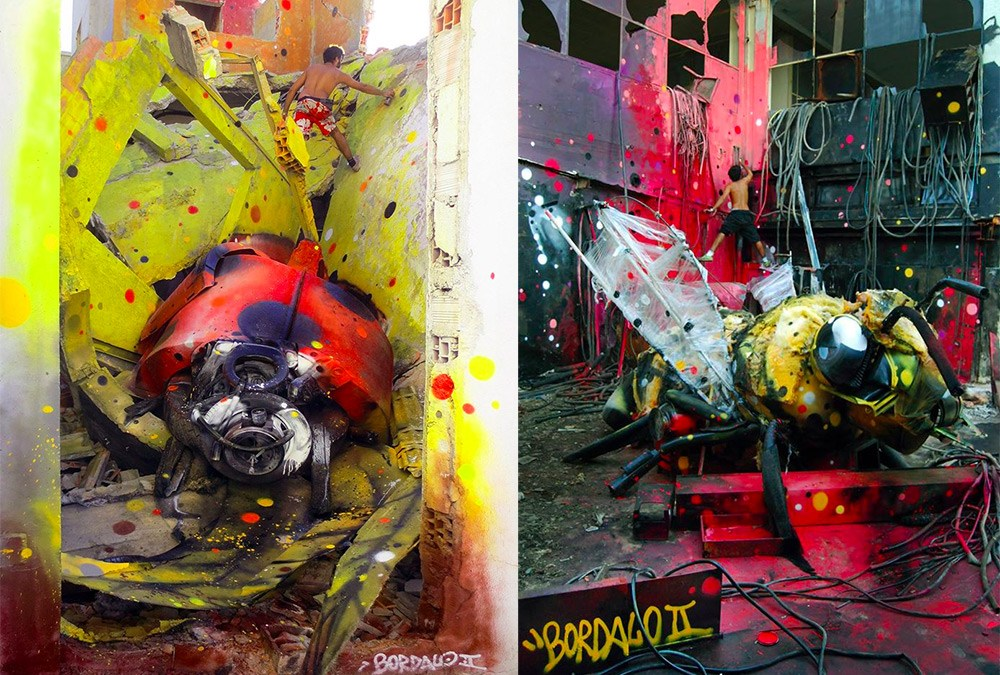 Artist Transforms Junk Into Beautiful Street Art to Remind us of Pollution