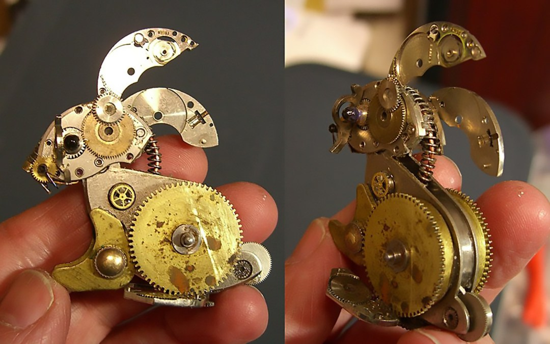 Susan Beatrice Recycles Old Watch Parts Into Intricately Detailed Steampunk Sculptures