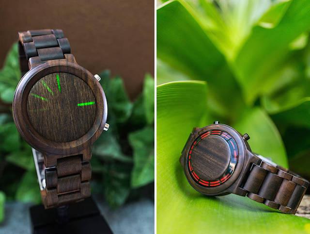 High-tech Smartwatch made of Wood