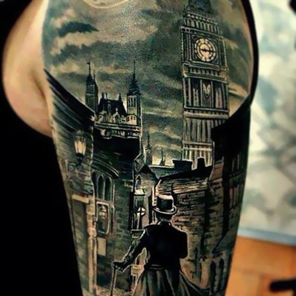 Book-Inspired Tattoos - Sherlock Holmes Tattoo