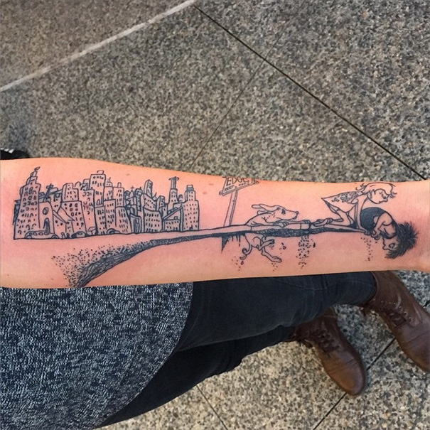 Book-Inspired Tattoos - Where The Side Walk Ends Tattoo