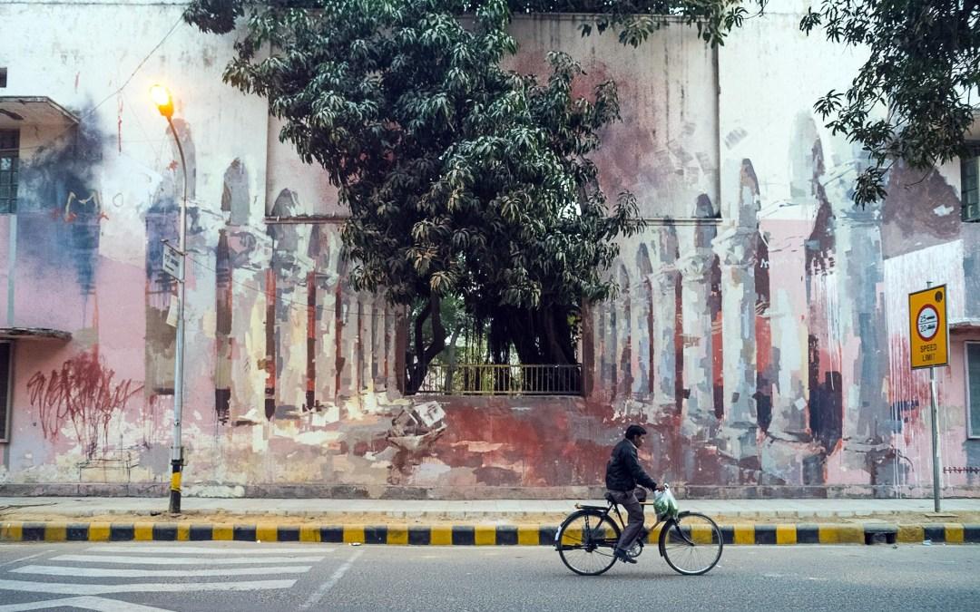 Street Art India: Borondo in Lodhi Colony, New Delhi