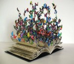 3D Artworks Made from Old Books