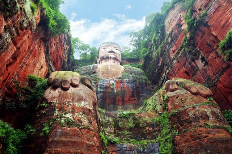 Giant Buddha in Leshan, China