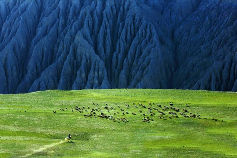 Dushanzi Grand Canyon in the Xinjiang Province