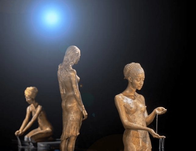 Bronze Sculptures Brought to Life by Incredible Water Effects