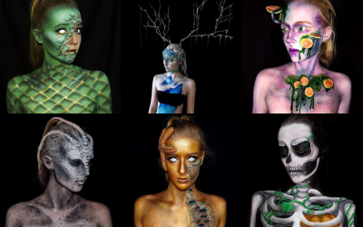 Cool body paintings by 16-year-old artist