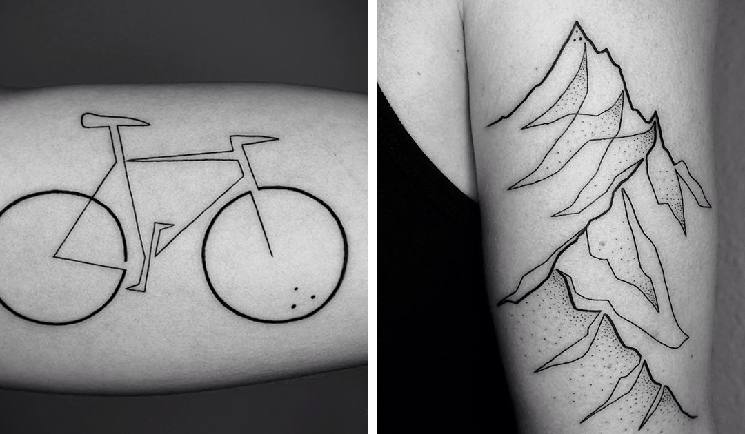 Minimalist Single Line Tattoos by Mo Ganji