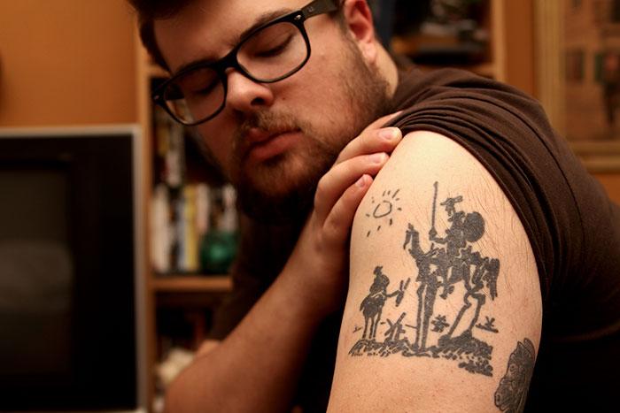Don-Quixote-Pablo-Picasso-tattoo