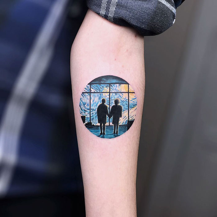 Starry-Night-Vincent-Van-Gogh-tattoo