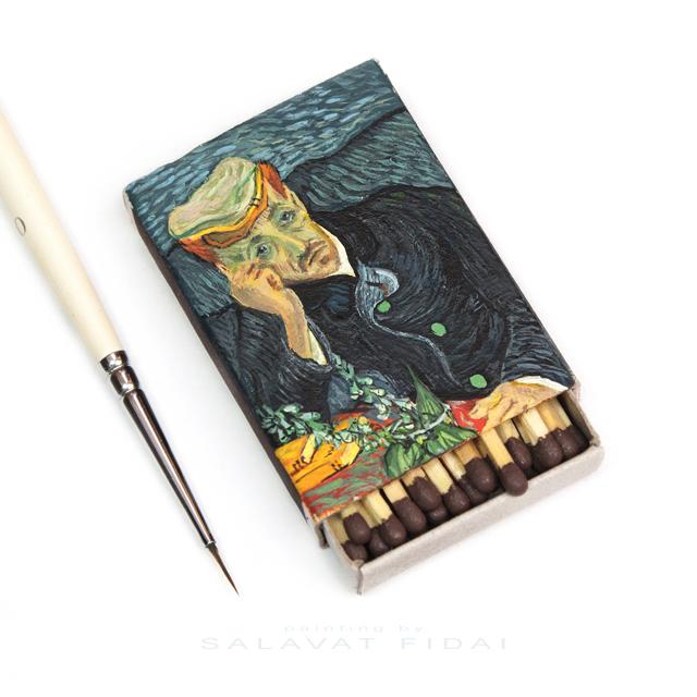 """Van Gogh Matchboxes - """"Portrait of Dr. Gachet"""""""