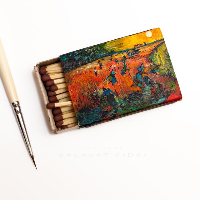 "Van Gogh Matchboxes - ""The Red Vineyards near Arles"""