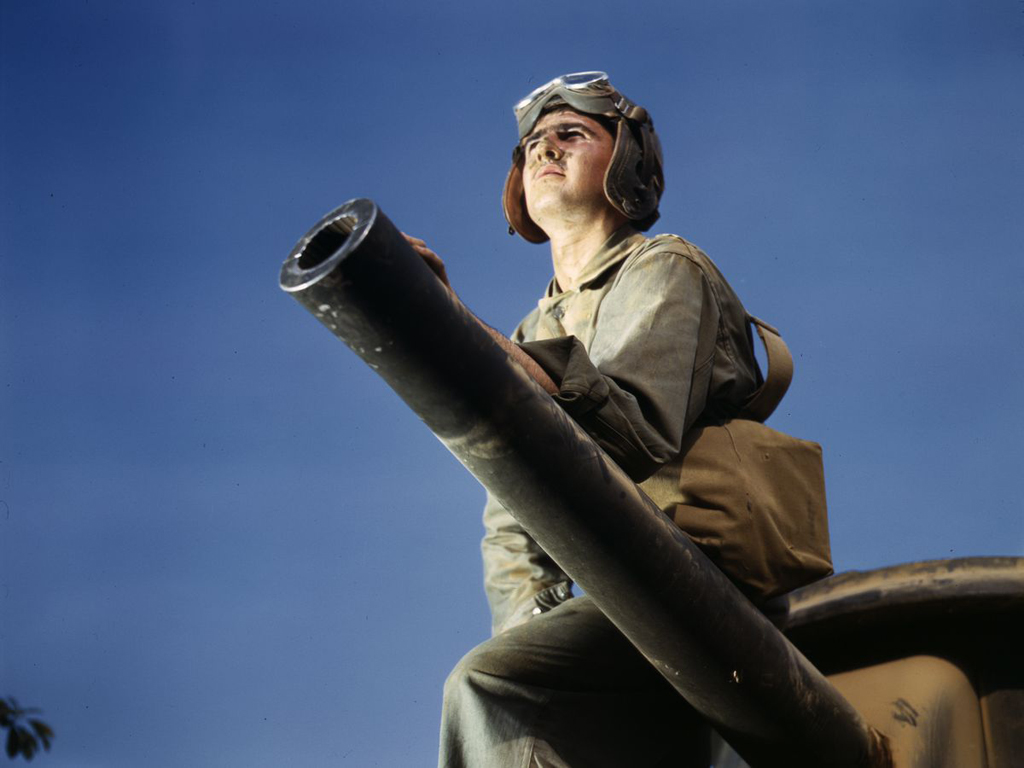 Life at Fort Knox in 1942 - 10. Here's another fantastic profile shot.