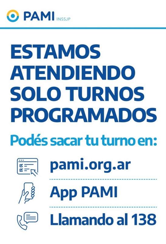 En PAMI Escobar, continúan los turnos programados