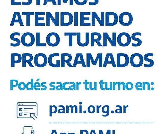 PAMI Escobar,  atiende turnos programados