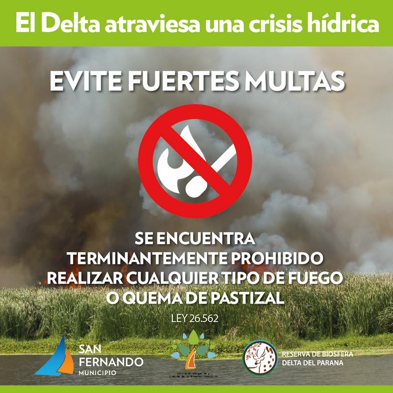 San Fernando advierte los peligros de la quema de pastizales en el Delta