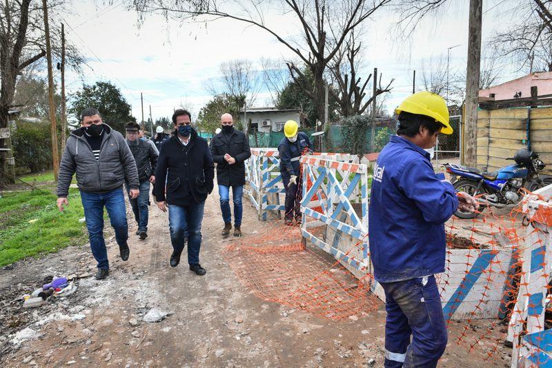 Ariel Sujarchuk supervisó obras públicas en Loma Verde y Belén de Escobar