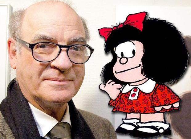 """A los 88 años, murió """" Quino"""", creador de  Mafalda"""