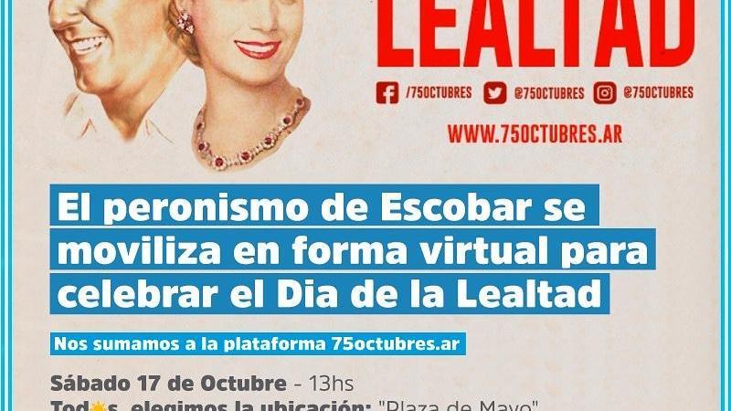 """""""Beto"""" Ramil : """"  Este 17 de Octubre nos movilizamos tod@s para colmar de manera virtual nuestra Plaza de Mayo"""""""