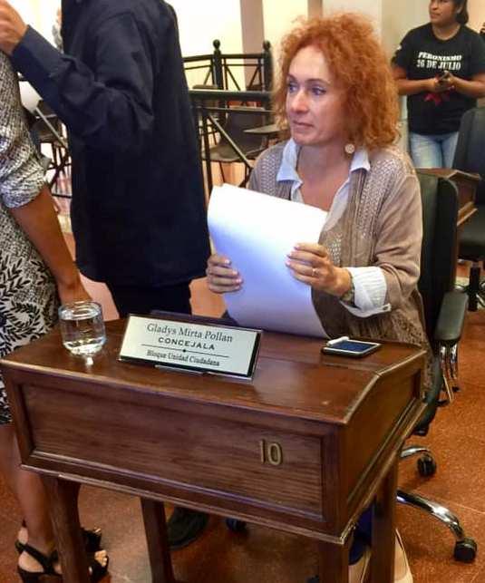 """Gladys Pollán: """"Debemos defender la paridad de género en el Concejo Deliberante"""""""
