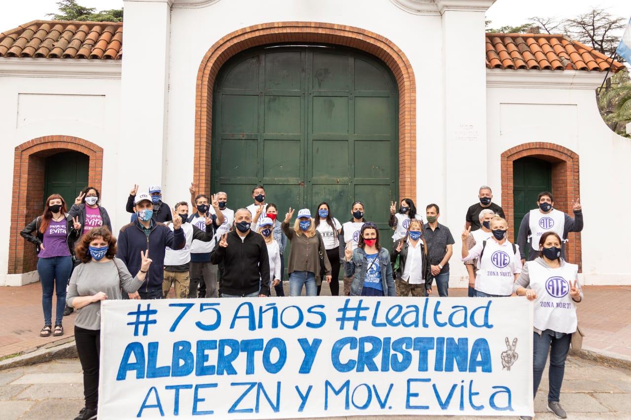 ATE Zona Norte y el Movimiento Evita Vicente López unidos previo al 17 de Octubre