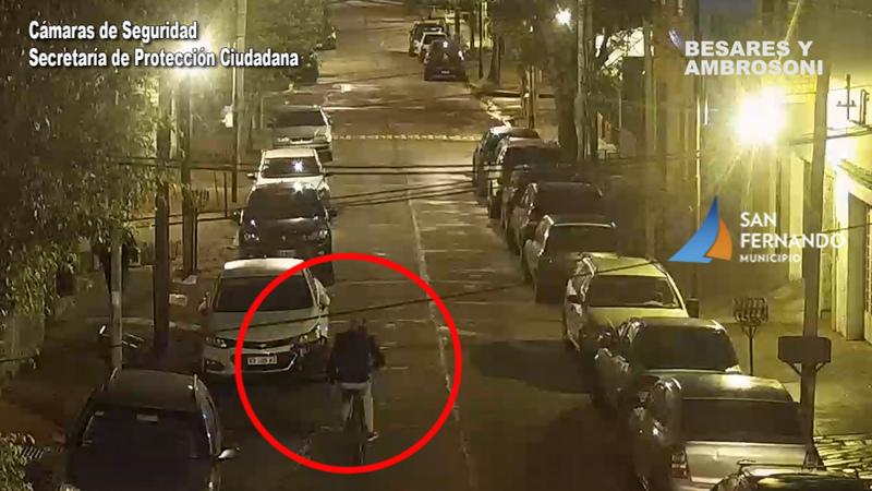 San Fernando, por las Cámaras, fueron detenidos dos hombres por el robo de una bicicleta