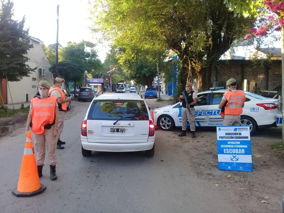 Controles vehiculares  de Prefectura durante el mes de Febrero en Escobar
