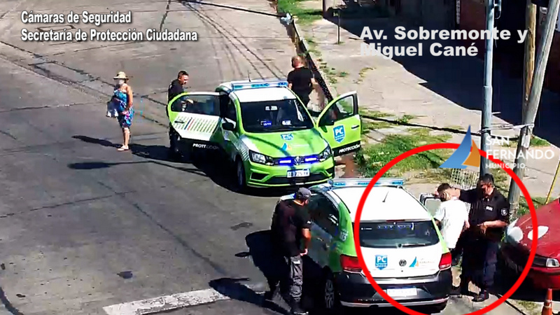 Protección Ciudadana de San Fernando detuvo a dos ladrones a pocos minutos de robar un local de ropa